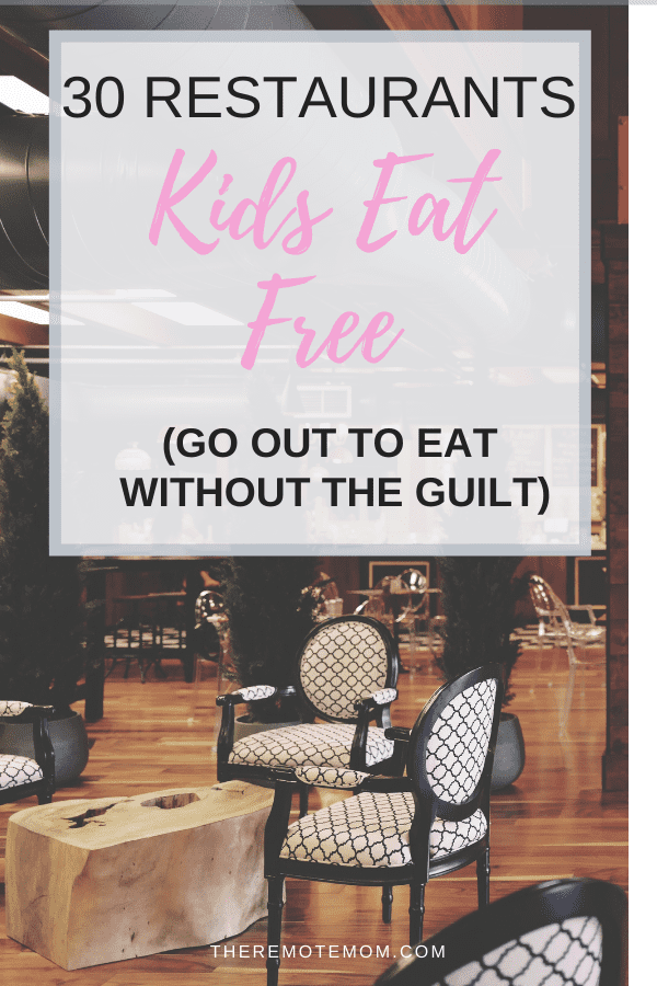 30 Restaurants where Kids Eat Free
