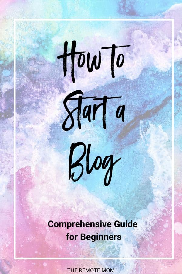 how to start a money-making blog