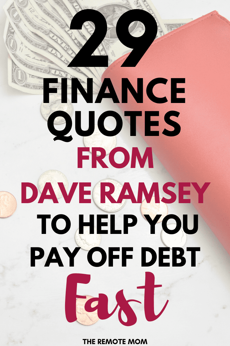 29 Finance Quotes from Dave Ramsey