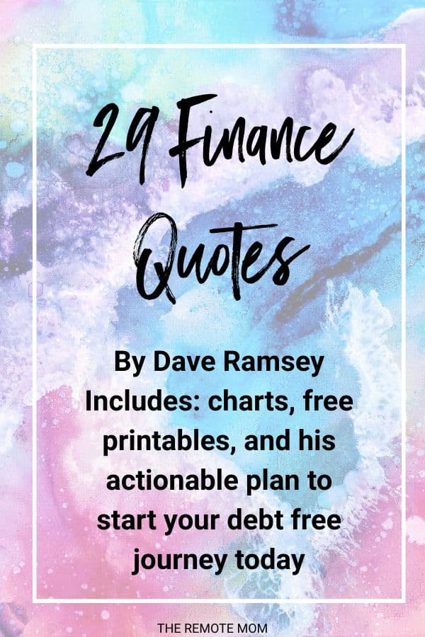 Money quotes by dave ramsey pay off debt