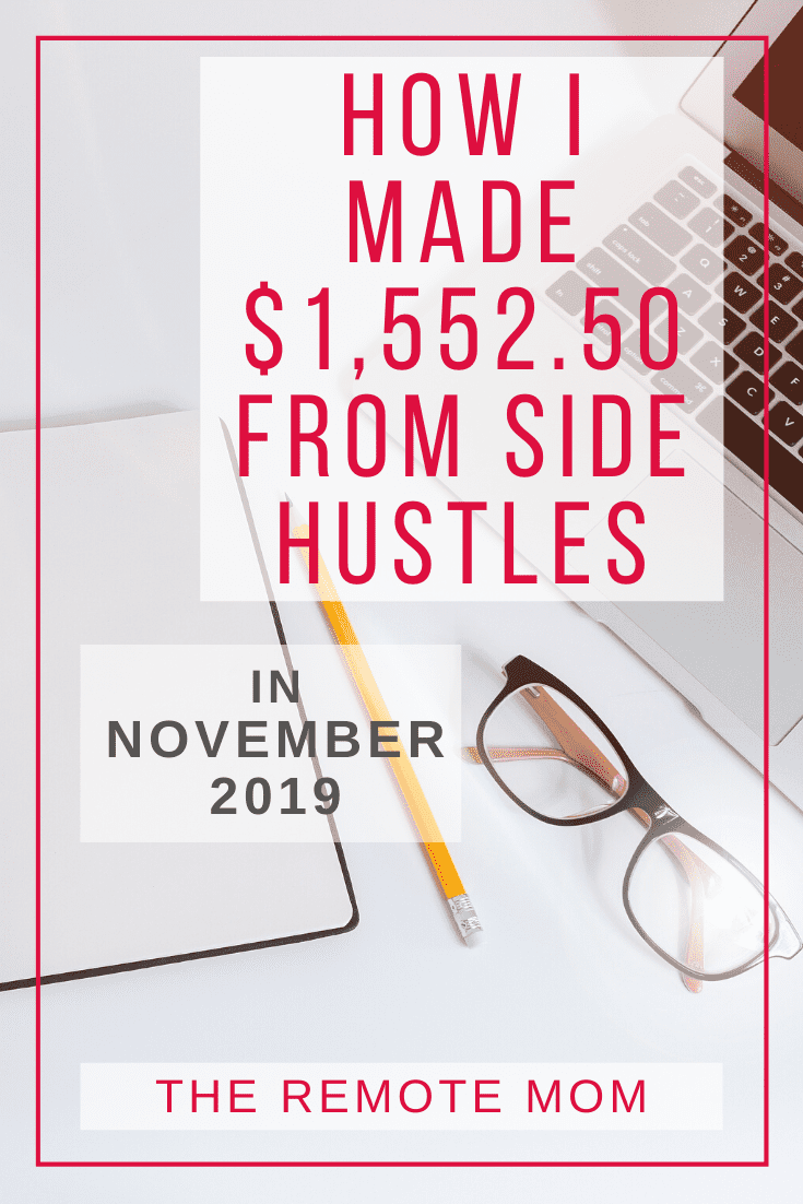 How I Made $1,552.50 from Side Hustles in November