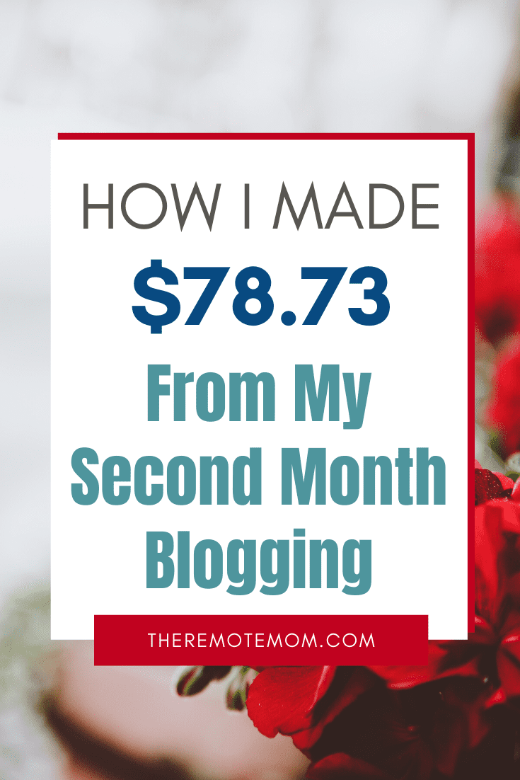 Second Month Blogging Income Report