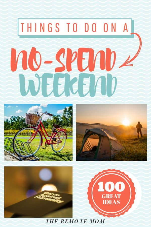 100 Things to do on a no-spend weekend