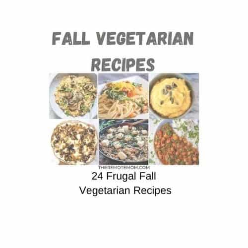FRUGAL FALL RECIPES PLANT BASED