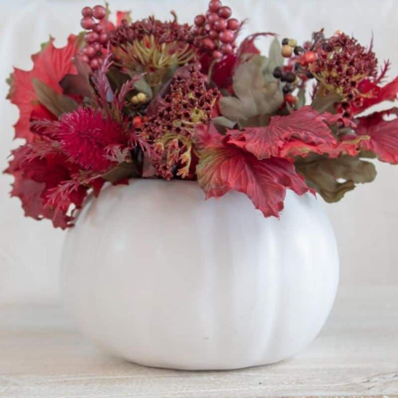 fall vase on a budget