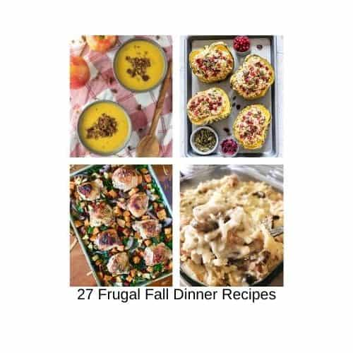 fall dinner recipes on a budget